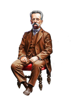 Éste es un retrato que hice del arquitecto catalán Domenech i Montaner, como prueba para una editori