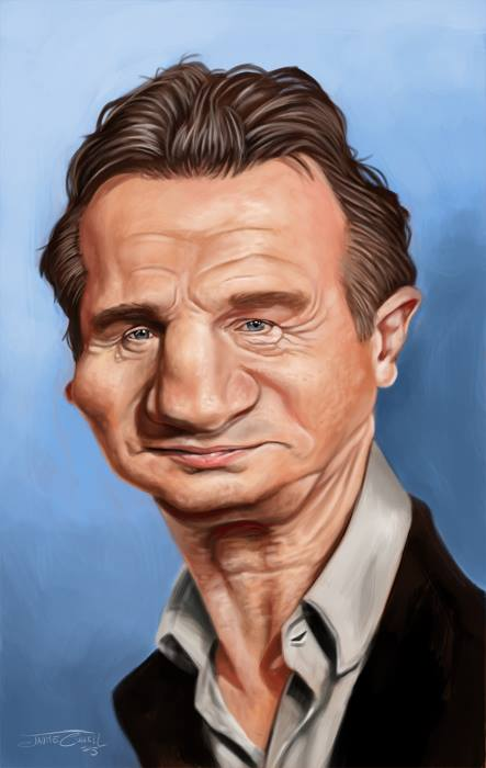 LIAM NEESON_Digital Painting, 2015