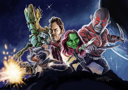 GUARDIANS OF THE GALAXY_Digital Painting, 2014