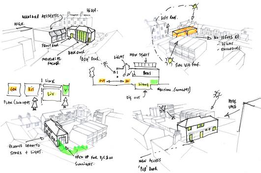 Architecture   Design   Sketch   Greenwich   Londo