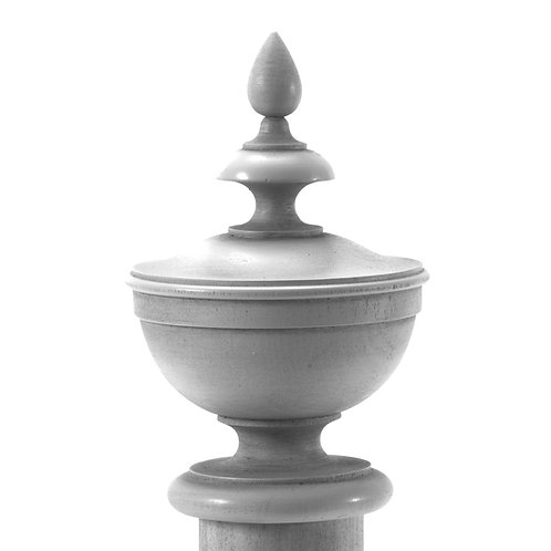 Canille Finial Available in 3 sizes unfinished