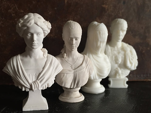 12th scale unpainted Busts Choose from 4 designs