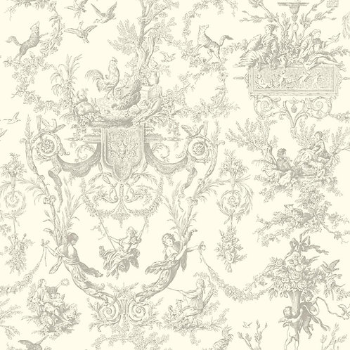 "Toile de Jouy ""Arabesque"" wallpaper"
