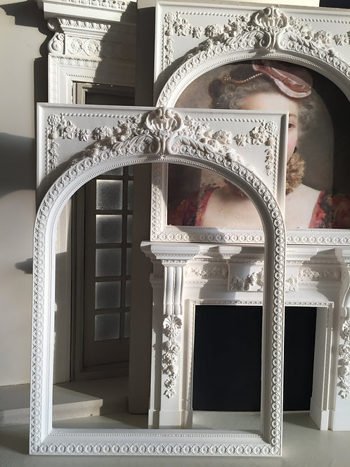 Large Plaster Over-mantle Frame