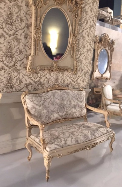 Awe Inspiring Toile Covered 18Th Century French Sofa In Cream And Gilt Caraccident5 Cool Chair Designs And Ideas Caraccident5Info