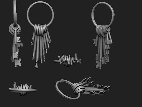 12th scale bunch of old keys