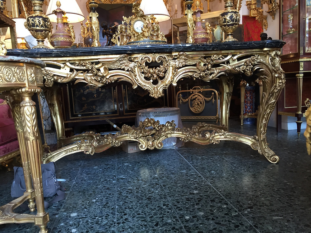 very large and ornate table