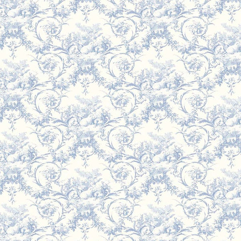 "Toile de Jouy ""Bluebell"" wallpaper"