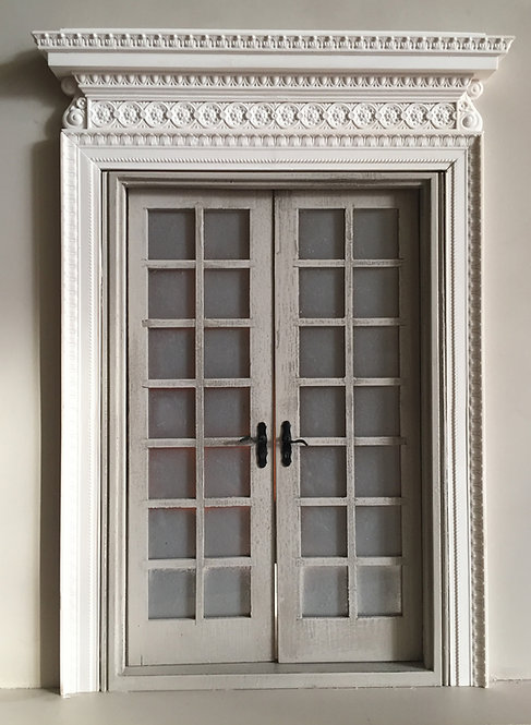 18th Century French Double door surround 12th scale unpainted
