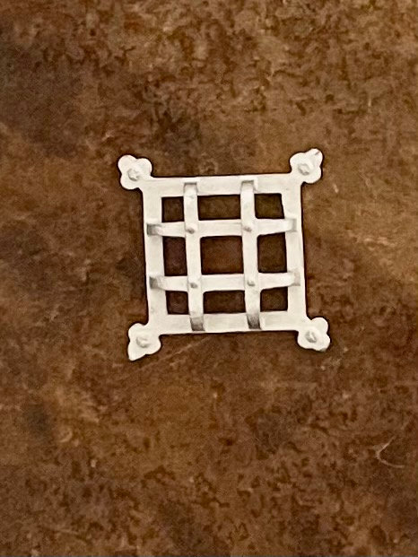 Decorative door security Grill (12th scale) unfinished