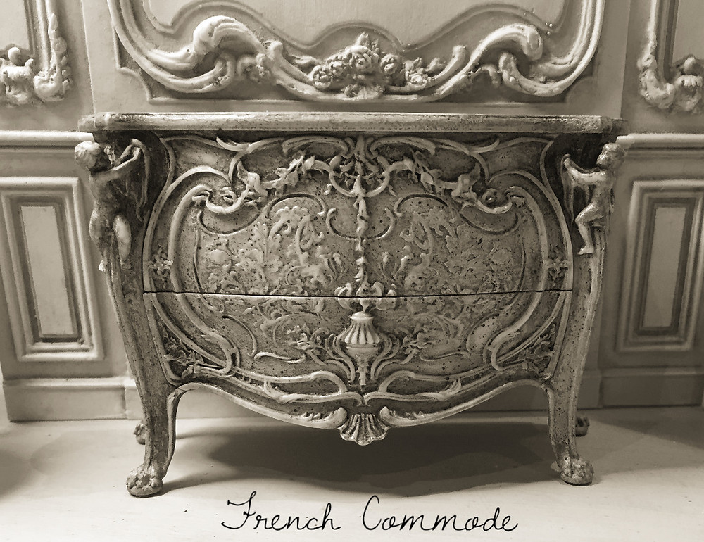 I have just started to work on finishes for the commode