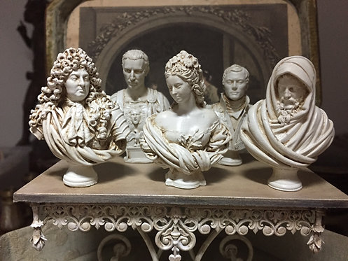 Sculpted Classical Busts (4 to choose from) & Plinth