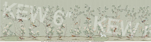 "Kew Greene Chinoiserie wallpaper choose from 6"", 8"" & 10"""