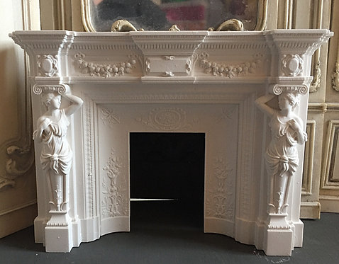 French Fire Surround with Caryatids