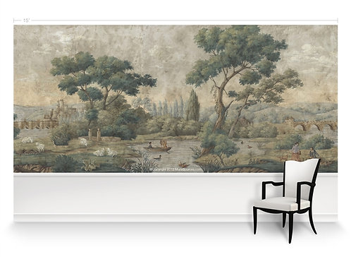 English Parks Scene Panorama Wallpaper Mural