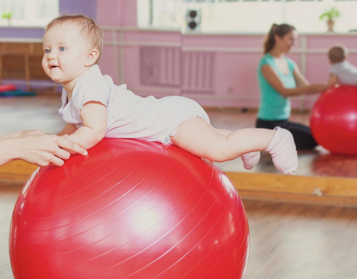 baby on ball movement development