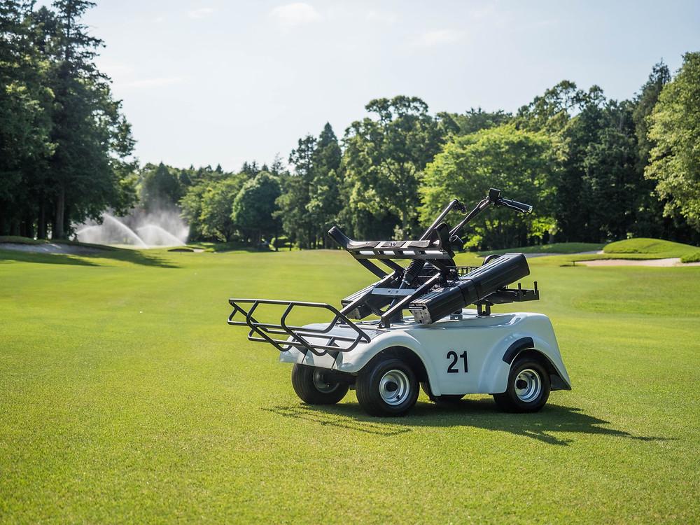電動立ち乗りゴルフカート SR-02 茨城県アスレチックガーデンゴルフ倶楽部