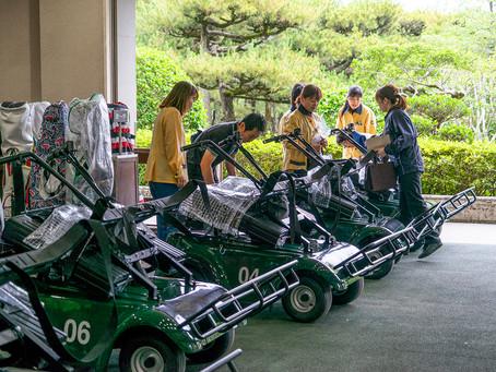 フェニックスカントリークラブ(宮崎県)導入初日の様子です。