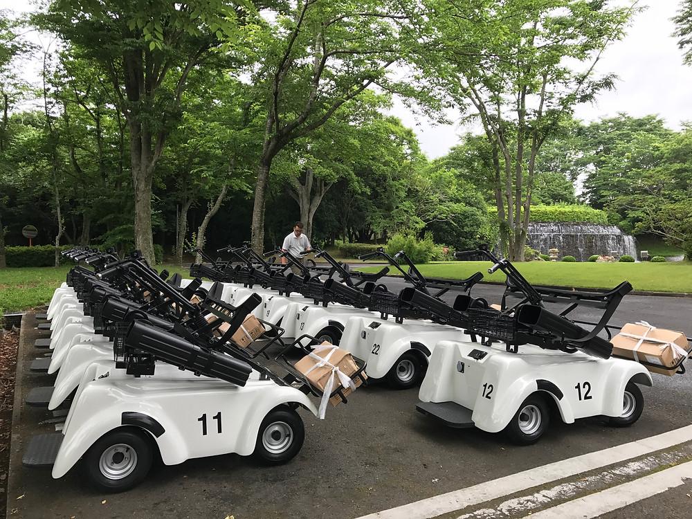 電動立ち乗りゴルフカート SR-02 茨城県アスレチックガーデンゴルフ倶楽部 納車風景