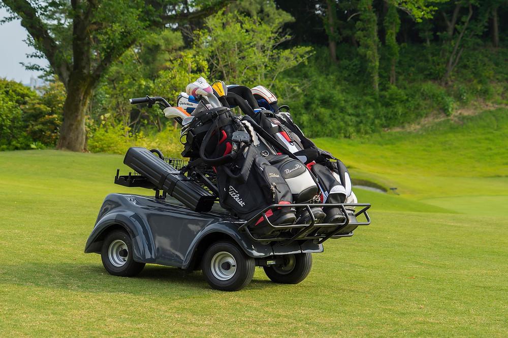 電動立ち乗りゴルフカート 4バッグ