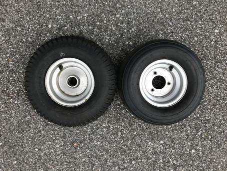 さらに芝に優しいタイヤを検討中①