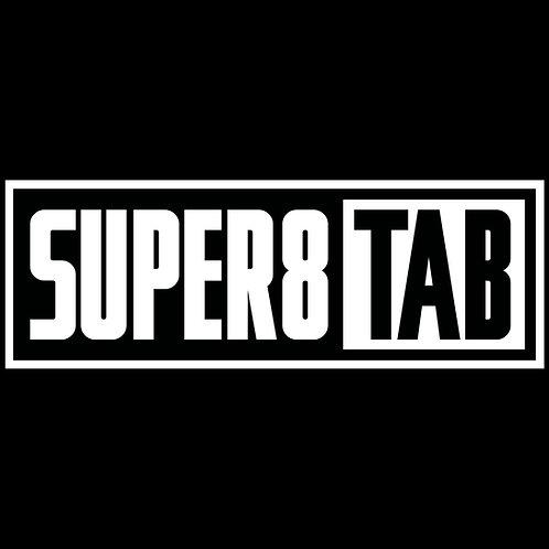 SUPER8 & TAB LOGO STICKER