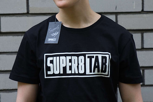 SUPER8 & TAB BLACK LOGO T-SHIRT