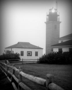 Beavertail Lighthouse B&W