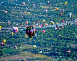 Hot Air Balloon over Rio Grande