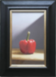 oil painting of a pepper