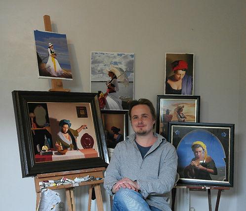 he Artist in his studio