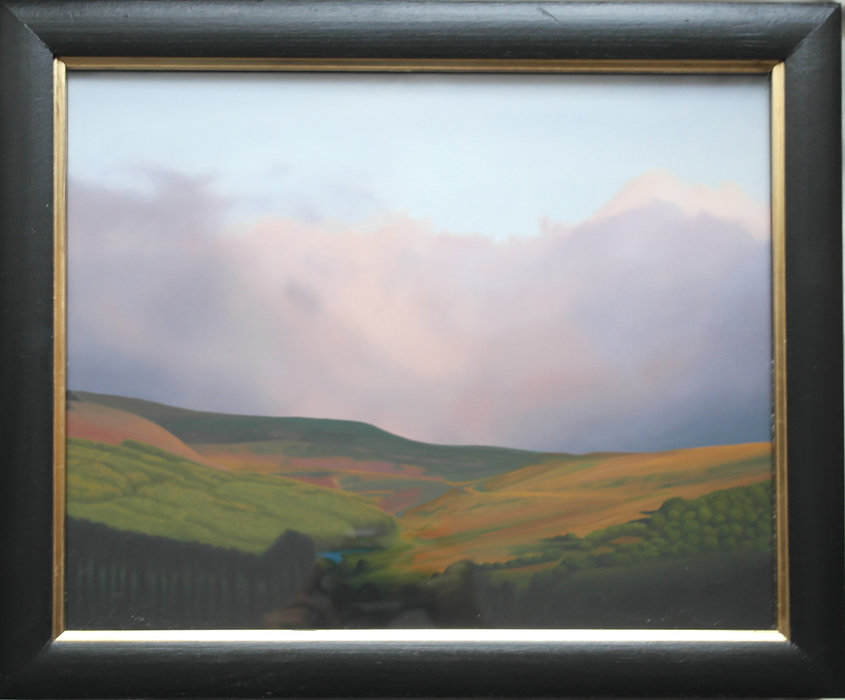 oil painting of a welsh landsape