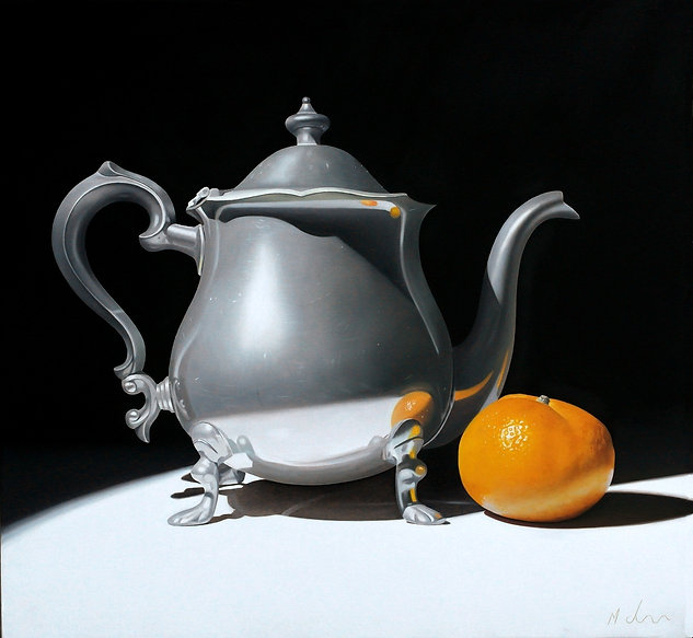 Vintage Teapot with a Tangerine_edited_e