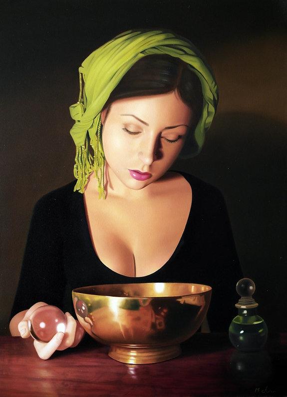 Oil Painting Michael de Bono Fine Art woman realism