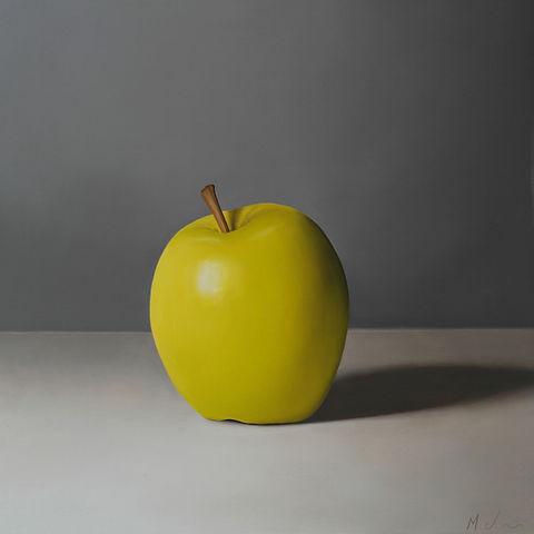 Oil Painting Michael de Bono Fine Art still life realism apple