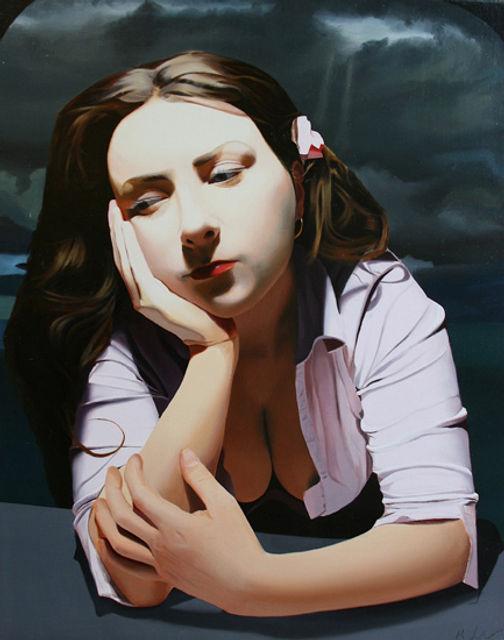 Oil Painting Michael de Bono Fine Art realism woman
