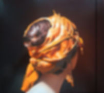 Oil Painting Michael de Bono Fine Art realism woman wearing a gold headdress
