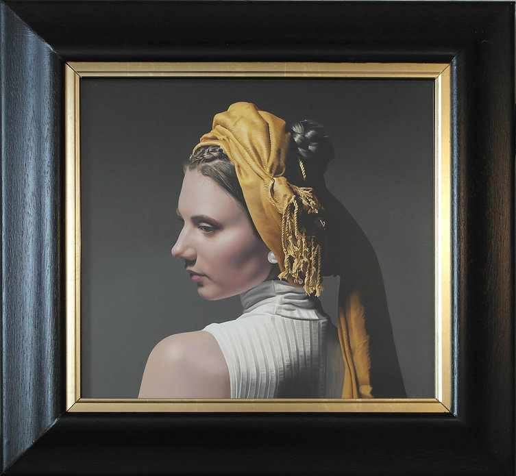 michael de bono oil painting of woman in golden headdress.jpg