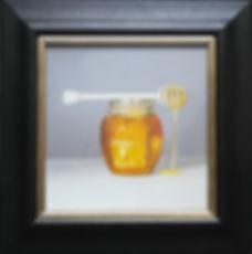 oil painting of honey