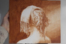 A drawing of a woman realism fine artMi