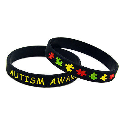 7534 Customized Autism Awareness Silicone Wristband