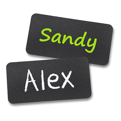 6221 Chalkboard Reusable Name Tags 2'' x 3''