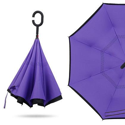 6439 Folding Reverse Umbrella Double Layer Inverted 48''