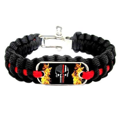 6511 Thin Red Line Survival Bracelet
