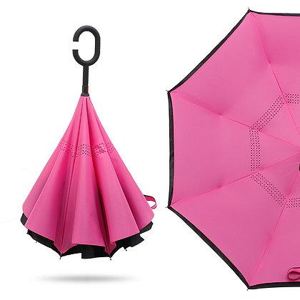 6438 Solid Color Reversible Umbrella 48''