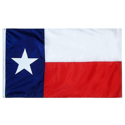 6473 Texas State Flag- 3x5 ft. Sewn Stripe and Embroidered Star
