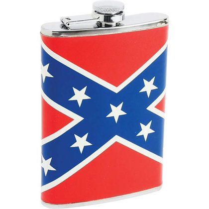 6255 8 OZ Flask with Rebel Flag Wrap