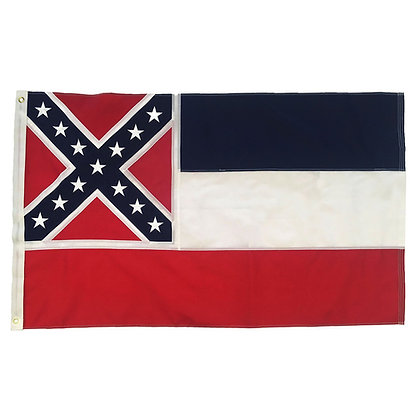 6465 Embroidered 3x5 Feet Mississippi Sewn State Flag