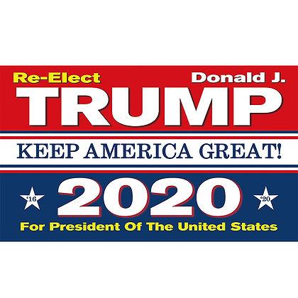 6576 Re-Elect Trump 2020 Flag