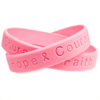 6752 Debossed Hope Courage Faith Wristband